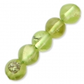 Round Gemstone beads 4 mm Peridot x20