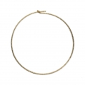 Diamond erring hoops to decorate 25 mm x 0.7 mm 14Kt Gold-Filled x2