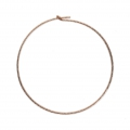Diamond erring hoops to decorate 25 mm x 0.7 mm 14Kt Rose Gold-Filled x2