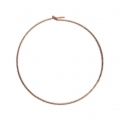 Diamond erring hoops to decorate 20 mm x 0.7 mm 14Kt Rose Gold-Filled x2