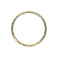 14Kt gold-filled diamond closed ring 20 mm x1