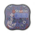Stazon Midi Ink Pad - Fast drying ink - Vibrant Violet x1
