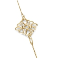 925 Sterling Silver square filigree pendant/spacer 15 mm 18 Kt Rose Gold Tone x1