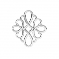 925 Sterling Silver square filigree pendant/spacer 15 mm x1