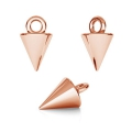 925 Sterling Silver pyramid charm 9x5 mm 18 Kt Rose Gold Tone x1