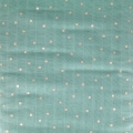 Cotton muslin fabric - Hygge - Dots - Mint/Gold x10cm