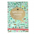 Book with 20 pages of stickers Paper Poetry 11x16.5 cm - Wonderland Mint x1
