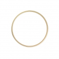 Mounting round element for beadweaving 40 mm - Mat Gold Tone x1