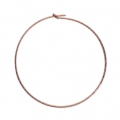 Diamond erring hoops to decorate 30 mm x 0.7 mm Rose 14Kt Rose Gold-Filled x2