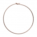 Diamond erring hoops to decorate 45 mm x 0.7 mm 14Kt Rose Gold-Filled x2