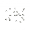 925 Sterling Silver Crimp tubes 1.1x1 mm x100