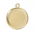 Pendant cabochon setting round-shaped 20 mm Gold Tone x1