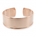 Brass bracelet base with curved edge 37 mm Rose Gold Tone x1