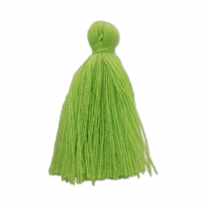 Imitation cotton tassel 27-30 mm Lime x1