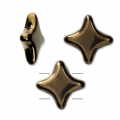 Star Beads glass beads by Perles and Co 11x11 mm Gold Bronze x30