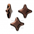 Star Beads glass beads by Perles and Co 11x11 mm Dark Bronze x30
