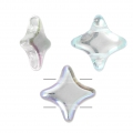 Star Beads glass beads by Perles and Co 11x11 mm Crystal AB x30