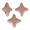 Star Beads glass beads by Perles and Co 11x11 mm Light Copper Mat x30