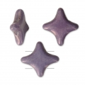 Star Beads glass beads by Perles and Co 11x11 mm Opaque Luster Amethyst x30