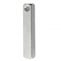 3D rectangle aluminum pendant 38x6 mm Stamping Blank x1