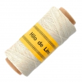 Reel of waxed linen thread 0.7 mm White nr1 x 100 gr