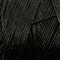 Reel of waxed linen thread 0.7 mm Black nr2 x 100 gr