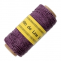 Reel of waxed linen thread 0.7 mm Plum nr15 x 100 gr