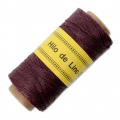 Reel of waxed linen thread 0.7 mm Bordeaux nr24 x 100 gr