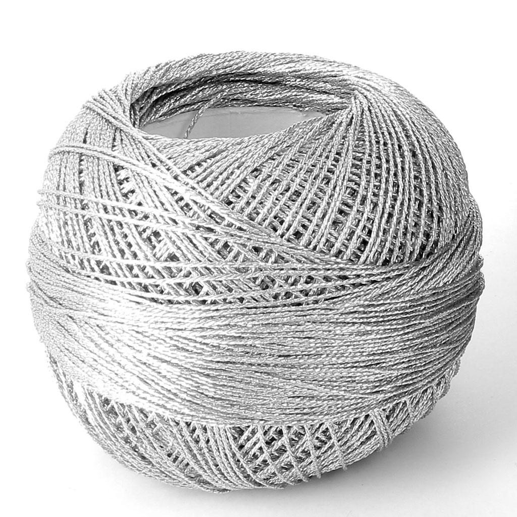 Liz Metallic Yarn Size 20 Silver Nr 311x146m Perles Amp Co