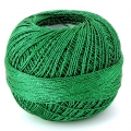 Liz Metallic yarn size 20 Christmas Green nr 323 x146m