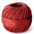Liz Metallic yarn size 20 Christmas red nr 324 x146m