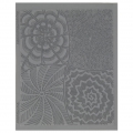 Clay Texture sheet Helen Breil for polymer clay 10.5x13 cm Good Vibrations