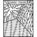 Clay Texture sheet Helen Breil for polymer clay 10.5x13 cm Sneaky Feelings