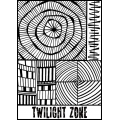 Clay Texture sheet Helen Breil for polymer clay 10.5x13 cm Twilight Zone
