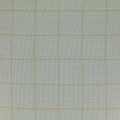 Double gauze cotton Fabric - France Duval-Stalla - Tiles - Green Grey/Gold x10cm