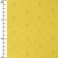 Double gauze cotton Fabric - France Duval-Stalla - Flowers - Banana/Gold x10cm