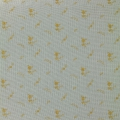 Double gauze cotton Fabric - France Duval-Stalla - Flowers - Green Grey/Gold x10cm