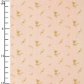 Double gauze cotton Fabric - France Duval-Stalla - Flowers - Nude/Gold x10cm