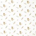 Double gauze cotton Fabric - France Duval-Stalla - Flowers - White/Gold x10cm
