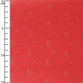 Double gauze cotton Fabric - France Duval-Stalla - Flowers - Poppy/Gold x10cm