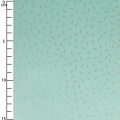 Cotton fabric - Wonderland - Lines - Green /Gold x10cm