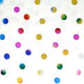 Cotton fabric - Wonderland - Hotfoil Dots  - White /Multicolored x10cm