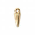 Mini Triangle-shaped charm 13x4 mm Gold Tone x1