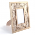 Openwork wooden photo frame 23.5 x 29 cm - Palm leaves x1
