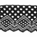 Lace Ribbon Rachel Dots Pattern 90 mm Black x1m