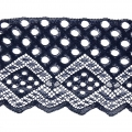 Lace Ribbon Rachel Dots Pattern 90 mm Navy Blue x1m