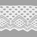 Lace Ribbon Rachel Dots Patternf Pois 90 mm White x1m