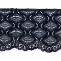 Lace Ribbon Rachel Spiral Pattern 90 mm Navy Blue x1m