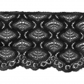Lace Ribbon Rachel Spiral Pattern 90 mm Black x1m