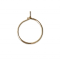 Metal Earring hoops to decorate 12x0.65 mm Gold Tone x4